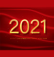 2021 happy new year gold numbers design of vector image vector image