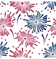 4th july fireworks seamless pattern vector image