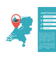 amsterdam map infographic vector image