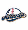 atlanta baseball vector image vector image