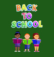 back to school children poster vector image vector image