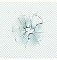 broken glass realistic cracked effect vector image