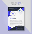 business pamphlet flyer corporate template vector image vector image