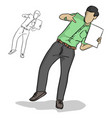 businessman pointing blank sheet vector image vector image
