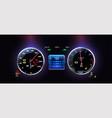 car dashboard modern automobile control vector image vector image