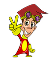 cartoon character cheerful guy vector image vector image