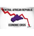 central african republic map financial crisis vector image
