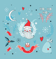christmas hand drawn design elements set with vector image vector image