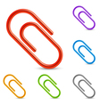Color clips vector image vector image