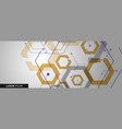 connected hexagon banner design vector image vector image