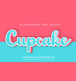 cupcake text effect vector image vector image