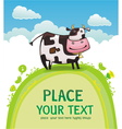 cute friendly cow vector image