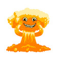 cute mushroom cloud on white background vector image vector image