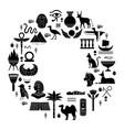 egyptian ancient symbols mythology egypt sacred vector image