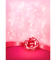 Elegant holiday background with gift pink bow and vector image vector image