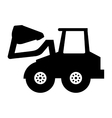 excavator vehicle isolated icon vector image vector image