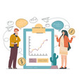 financial analytics design element concept vector image