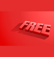 free banner element market offer present vector image