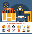 fuel pump icon set vector image vector image
