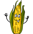 funny corn on the cob cartoon vector image