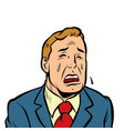 funny man crying vector image vector image