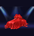 gifting new car 3d realistic concept vector image vector image