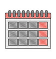 grated calendar information day to organizer event vector image vector image