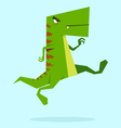 green dino in action 09 vector image vector image