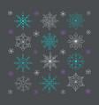 hand drawn snowflakes doodle snowflakes unique vector image vector image