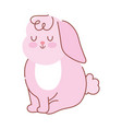 happy easter cute little rabbit cartoon season vector image