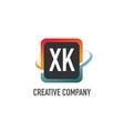 initial letter xk swoosh creative design logo vector image vector image