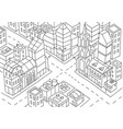 intersection of the big city sketch skyscrapers vector image vector image
