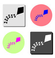 kite flat icon vector image
