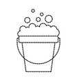 laundry bucket wash and soap foam cleaning vector image vector image