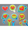 love stickers collection vector image