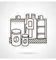 Making coffee Flat line design icon vector image vector image