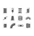 metal spiral flexible wire elastic spring icons i vector image vector image