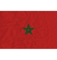 Morocco paper flag vector image vector image