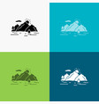 mountain hill landscape nature tree icon over vector image