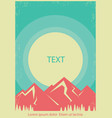 mountains landscape retro poster background vector image