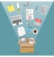 Moving into a new office vector image
