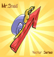 mr snail with growth vector image vector image