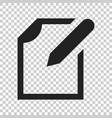 notepad edit document with pencil icon on vector image