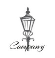 old street lamp logo vector image