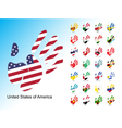 Open human handprint with national flag inside vector image vector image