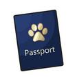 pet passport formal document certificate for dog vector image vector image