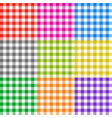 picnic tablecloth checkered seamless vector image vector image