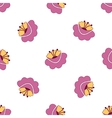 Pink flowers seamless background vector image vector image