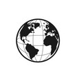 planet icon for app or web earth silhouette vector image vector image