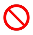 Prohibition forbidden sign vector image vector image